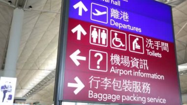 Airport navigation signboards — Stock Video