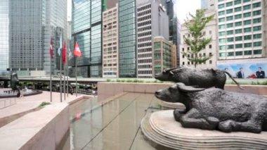 Hong Kong Exchange Square — Stock Video