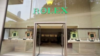 Rolex outlet in Hong Kong — Stock Video