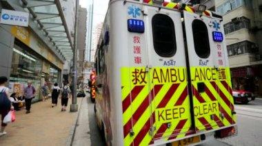 Emergency ambulance car — Stock Video
