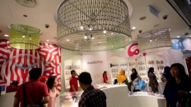 Swatch store at Suria mall — Stockvideo