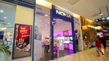 Nokia store at Low Yat Plaza — Stock Video