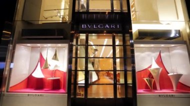 Bvlgari luxury boutique — Stock Video