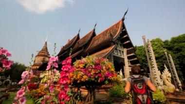 Wat Lok Molee ancient temple — Stock Video