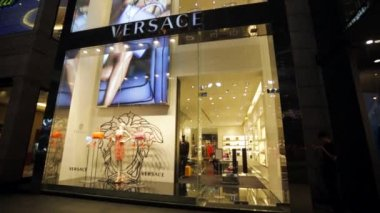 Versace fashion boutique — Stock Video