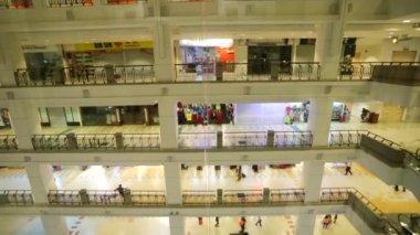 People at Berjaya Time Square — Stock Video