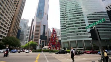 Raffles Place district — Stock Video