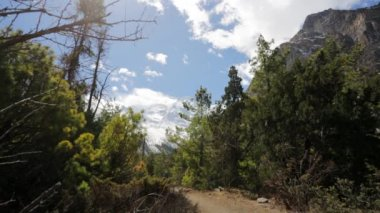 Senderismo en las montañas del himalaya — Vídeo de stock