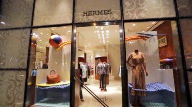 Hermes fashion store — Stock Video