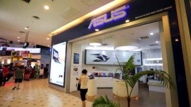Asus store at Low Yat Plaza — Stock Video