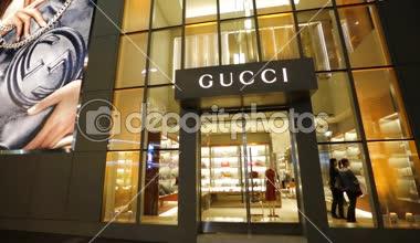 Fashion Gucci store — Stock Video