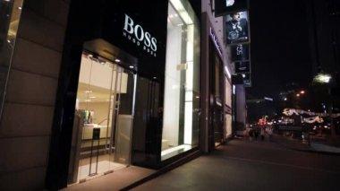 Hugo Boss store — Stock Video