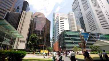 People at Raffles Place — Stock Video