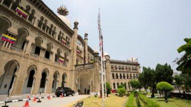 Facade of Railway Headquarters Building — Stock Video