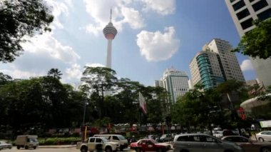 Menara telecommunication tower — Stock Video