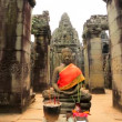 Buddha statue at Bayon Temple — Stock Video #62791821