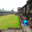 Tourist visit Angkor Wat Temple — Stock Video #62792005