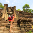 Backpacker visiting Angkor Wat Temple. — Stock Video #62792129