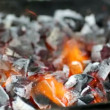 Coals burning in the brazier — Stock Video #62798915