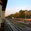 View from open train door — Stock Video #62799073