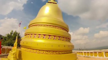 Buddhist stupa at Tiger Cave Temple — Stock Video