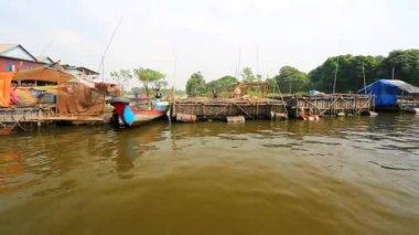Floating village view — 图库视频影像