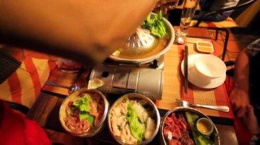 Preparing Khmer barbecue. — Stock Video