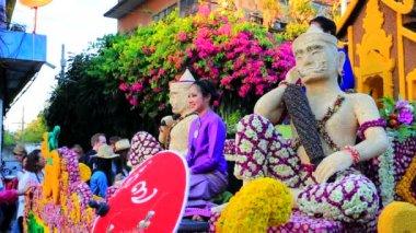 38th Anniversary Chiang Mai Flower Festival — Stockvideo