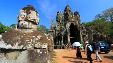 South Gate at Angkor Thom — Stock Video