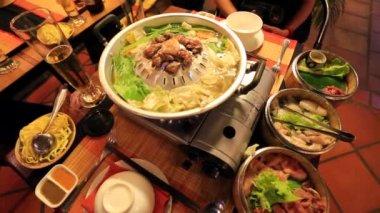 Preparing Khmer barbecue — Stock Video