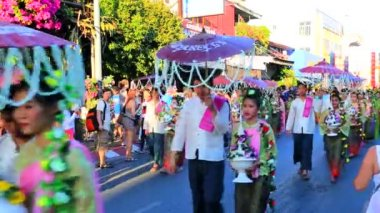 38th Anniversary Chiang Mai Flower Festival — Stock Video