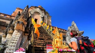 Wat Chedi Luang temple — Stock Video