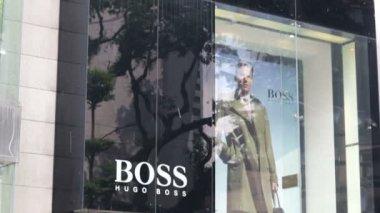 Hugo Boss store in Kuala Lumpur — Stock Video
