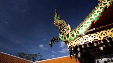 Bronze bells at Doi Suthep temple — Stock Video