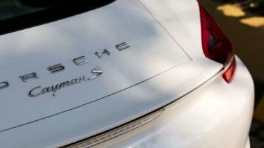 Porsche Cayman S sign — Stock Video