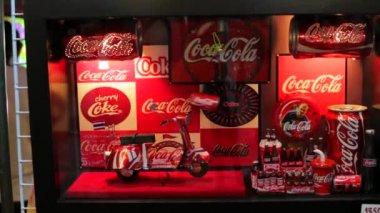Handmade Coca Cola Coke Wall , Desk Clock — Stock Video