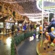 Christmas fair and carousel — Stock Video #62812585