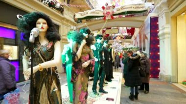 Public exhibition of costumes — Stok video
