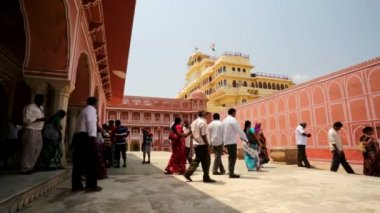 Chandra Mahal in City Palace — Stock Video