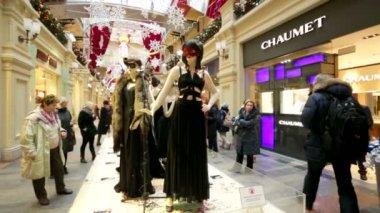 Public exhibition of costumes — Stock Video