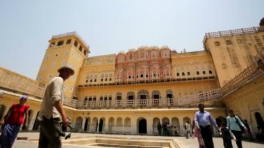 Hawa Mahal, Palace of Winds. — Stock Video