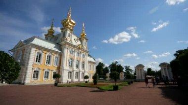 Peterhof palace church — Stock Video