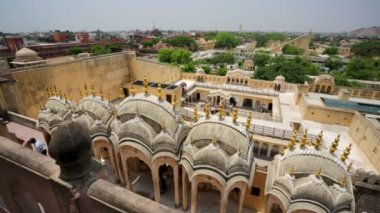 View from the Hawa Mahal. — Stock Video