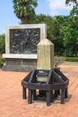 Engrave stone of Thai alphabet — Stock Photo