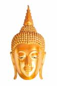 Golden Buddha Head Statue — Fotografia Stock