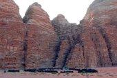 Turizm-kampı - Wadi Rum-Jordan — Stok fotoğraf