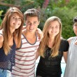 Happy smiling group of youth or teens — Stock Photo #63682973