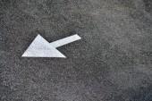 Arrows on a raod — Stock Photo