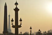 Eiffel Tower and Place de la Concorde — Stock Photo