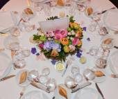 A table set for a formal dinner — Stock Photo